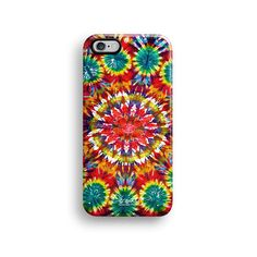 Tie dyed colourful iPhone 6 case, iPhone 6 plus case S567