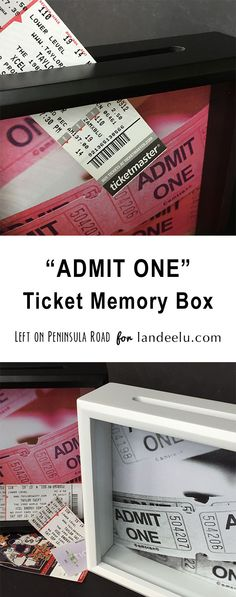 """Admit One"" Ticket Memory Box 