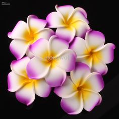 Samoan flowers for hair | Wholesale Plumeria flowers Latex frangipani wedding bouquet birthday ...