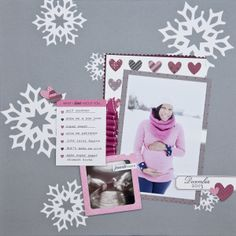 Monthly Moments December 2013 Layout by Ashley Cannon Newell for Papertrey Ink (February 2014)