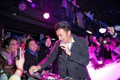 Nicholas Tse like a DJ