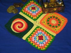 Creat - E - witty Unleashed: Crochet Squares on fire !