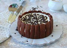 TORTA DI PAVESINI CON CAFFE E CREMA AL LATTE dolce senza cottura facilissimo da preparare, cremoso e golosissimo, ricetta dolce al caffè