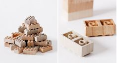 WOODEN LEGO - The iconic plastic toy from the 40s now enjoys a revival by the japanese firm Mokulock.