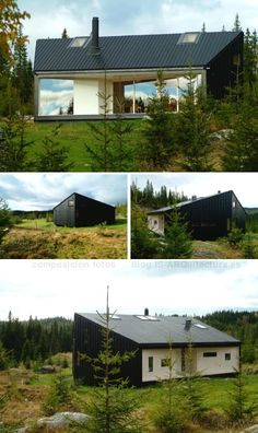 nordmarka-cabaña-madera-noruega Affordable House Plans, Cabana, Small Buildings, Cabin Homes, My House, Shed, Outdoor Structures, Architecture, Outdoor Decor