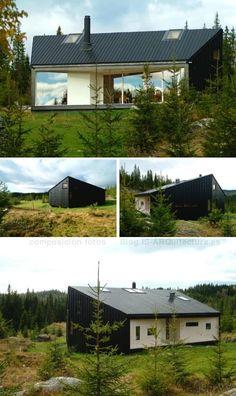 nordmarka-cabaña-madera-noruega