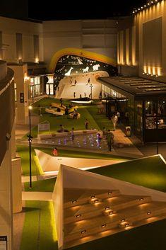 STGK Inc. (Studio Gen Kumagai) is a landscape design studio, based in Yokohama, Japan. Landscape Architecture Design, School Architecture, Interior Architecture, Landscape Designs, Design D'espace Public, Plaza Design, Mall Design, Playground Design, Parking Design