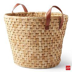 Dussert Graves Design Natural Corn Husk Storage Basket at jcpenney Corn Husk Crafts, Wicker Baskets With Handles, Michael Graves, Harbor House, Clothes Basket, Baby Girl Shower Themes, Art Bag, Basket Bag, Storage Baskets