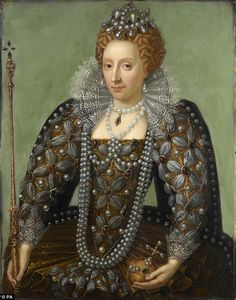 More fashionable: The original portrait of Elizabeth I showed her wearing large ¿wings¿ around her head, as was fashionable at the time. This was almost completely overpainted in the eighteenth century to create the ¿prettified¿ image we see today (pictured)