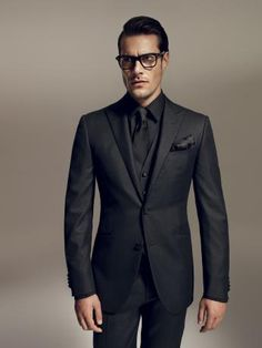 Corneliani Formal Wear - Black Suit. *I LOVE monochromanic                                                                                                                                                     More