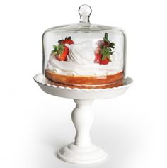 Bianca Pedestal Cake Plate w/ Dome — keep out flies and grubby hands