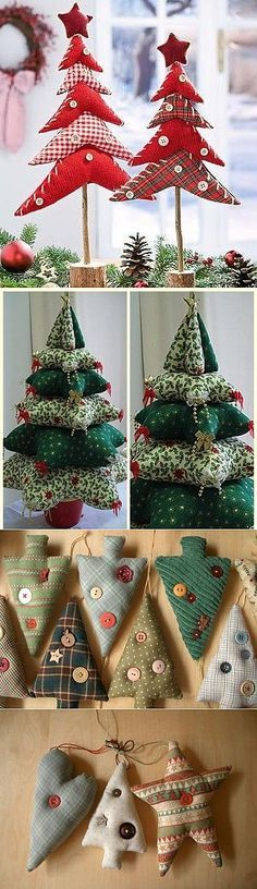 Amazing Home Sewing Crafts Ideas. Incredible Home Sewing Crafts Ideas. Christmas Makes, Noel Christmas, Rustic Christmas, Handmade Christmas, Christmas Toys, Christmas Tree Decorations, Christmas Tree Ornaments, Diy Ornaments, Christmas Projects