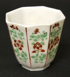 A Kangxi Blanc de Chine Porcelain Octagonal Beaker Decorated in London. The porcelain is Kangxi 1662-1722. The English decoration c.1700-1720. Provenance : Mr Alan Green. For examples of this type of Chinese blanc de chine porcelain decorated in London see : European Decoration on Oriental Porcelain 1700 - 1830 (Helen Espir, Jorge Welsh Books, 2005) Pages 208-213.