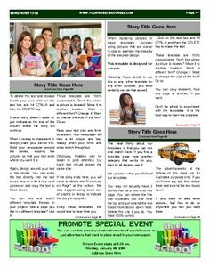 """This template can be used as an inside page as well as a back page. Try this 11""""x14"""" newspaper template now using our Free Cloud Designer: www.makemynewspaper.com/free-newspaper-templates"""