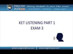PART 1 (EXAM 2) - LISTENING - PET CAMBRIDGE PRELIMINARY ENGLISH TEST