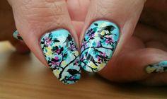 Nail art stamping  Déco oiseaux plaque Marianne Nails