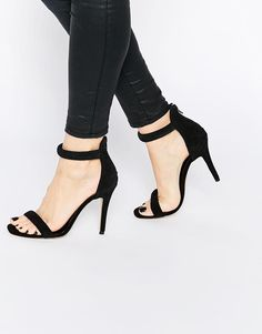 New Look | New Look Suede Heeled Barely There Sandal at ASOS