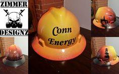 conn energy custom hard hat by ZimmerDesignZ.com