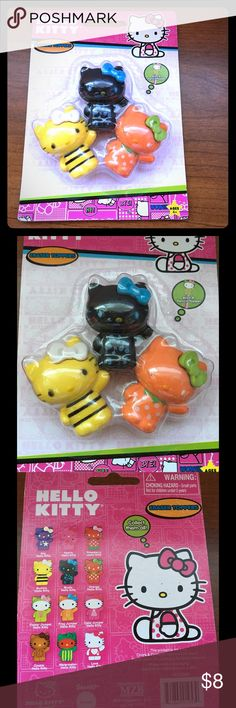 Hello Kitty Eraser Toppers 3 in Pack Brand new! Unused! Unopened! Please no offer this product! Sanrio Accessories