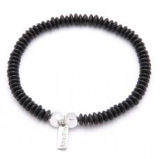 ChloBo Chloboy Black Horn Rondelle Plain Bracelet