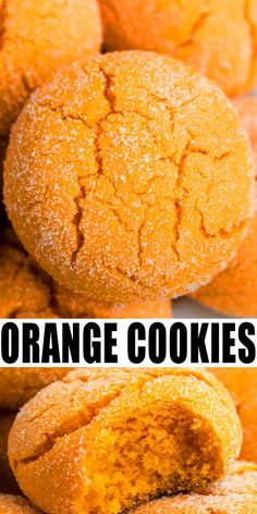 ORANGE COOKIES RECIPE Quick easy soft and chewy best old fashioned homemade with simple ingredients Crispy on the outside A doctored cake mix recipe loaded with orange ze. Quick Cookies, Cake Mix Cookies, Yummy Cookies, Homemade Cookies, Cake Mix Muffins, Drop Cookies, Cupcakes, Cake Mix Recipes, Best Cookie Recipes