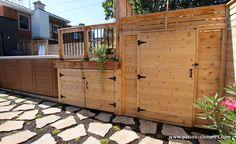 A deck with swim hot tub in Montreal Deck Skirting, Hot Tub Deck, Deck Storage, Home Porch, Patio Gazebo, Diy Deck, Composite Decking, Deck Furniture, Pool Decks