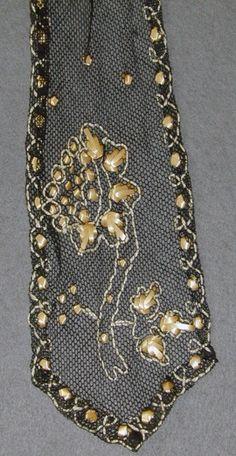 Embroidered straw circa 1860