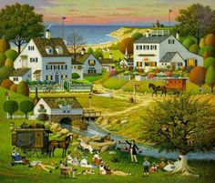 """Hound of the Baskerville"" by Charles Wysocki -- this is my desk calendar…"