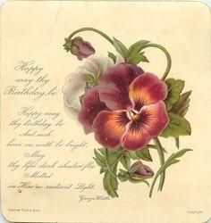 vintage birthday card,,,,,,,,,,,,,,http://www.pinterest.com/sherylmyersroch/greeting-fans-/