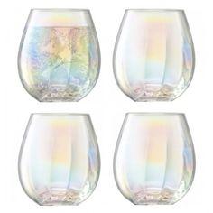 LSA Pearl Tumblers - Set of 4 - iridescent glasses