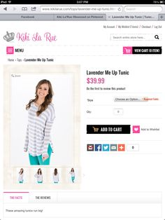 Love this Lavender Me Up Tunic.  Would be perfect for the fall/winter.