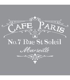 Decoart Cafe Paris - American Decor Stencil