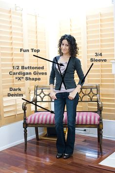 """How To Dress Using The """"X-Principle""""  -  Petite Outfit Shown: Deconstructing My Go To Outfit  -  http://www.alterationsneeded.com/2010/09/petite-outfit-deconstructing-my-go-to.html#"""