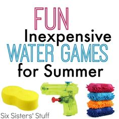 Parties don't have to be expensive! These Inexpensive water games will be a HUGE hit with the kids (and adults!)