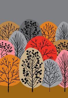 рисуем осенний лес