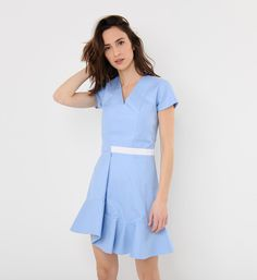Carven poplin dress with flared skirt