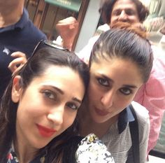 Sisters selfie – Kareena and Karisma Kapoor in Dubai. #Bollywood #Fashion #Style #Beauty