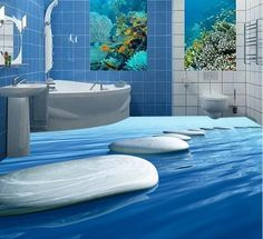3D Surreal - 3 d flooring custom waterproof 3d room flooring water stone 3 d bathroom flooring paintings photo 3d wall murals wallpaper-in Wallpapers from Home Improvement on Aliexpress.com | Alibaba Group