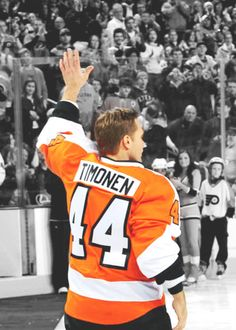 44 Kimmo Timonen, Philadelphia Flyers. My favorite player, good job Finland for getting bronze!