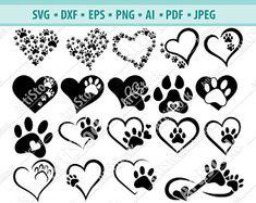 Dog Tattoos, Mini Tattoos, Cute Tattoos, Paw Print Art, Art Prints, Dog Memorial Tattoos, Digital Ocean, Theme Tattoo, Cricut
