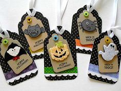 Assorted Halloween tags 5 by smatsunaka on Etsy, $7.50