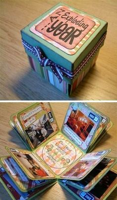 A little box of memories for each year!!