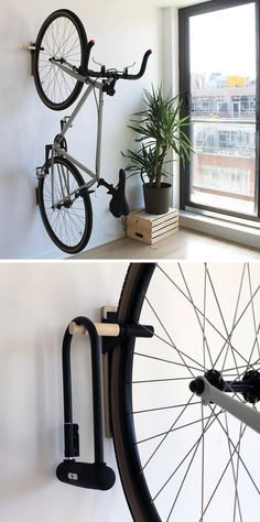 IPPINKA have designed Lift, a minimal mulit-use wall-mounted hook made from steel, wood, and leather, that can hold everything from your jacket to a full sized bike.