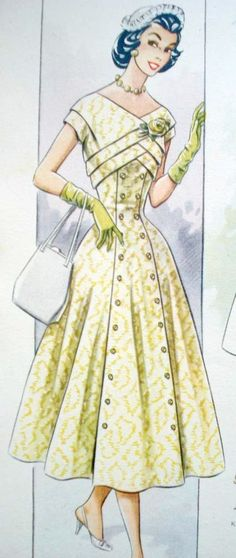 New Sewing Vintage Dresses Pictures Ideas Vintage Dress Patterns, Dress Sewing Patterns, Vintage Fabrics, Clothing Patterns, Vintage Dresses, Vintage Clothing, Moda Vintage, Style Vintage, Vintage Style Outfits