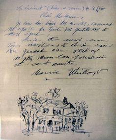 lettre de Maurice Utrillo