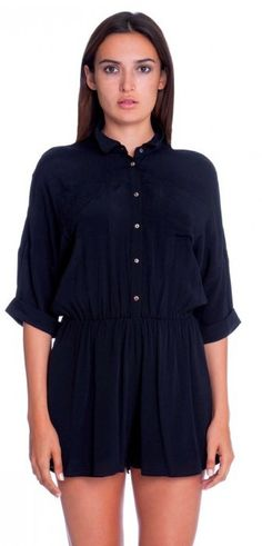 BohoPink - Lush Republic Black Shirt Romper, $49.00 (http://www.bohopink.com/lush-republic-black-shirt-romper/)