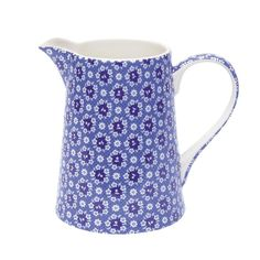 Image detail for -Greengate Stoneware Jug Fay Blue 1 ltr.