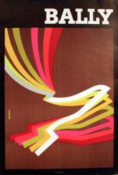 Bally (men's shoes), 1965 - original vintage poster by Aurian listed on AntikBar.co.uk