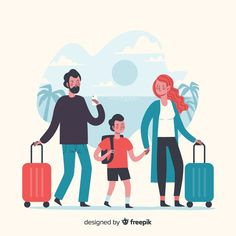 Family time travelling on vacation Free . Tree Illustration, People Illustration, Character Illustration, Family Vector, Free Maps, Picture Blog, Vector Photo, Life Photo, Illustrations And Posters