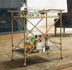 bar cart from restoration hardware